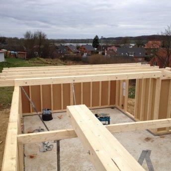 Balkenlage Dachstuhl Schritt 1