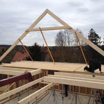 Balkenlage Dachstuhl Schritt 3