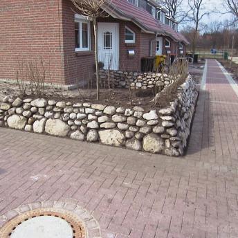 Friesenwall als Vorgarten