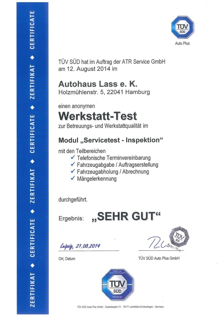 Werkstatt Test 2014