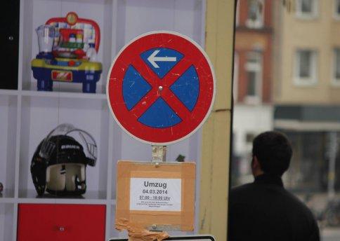 Halten verboten - damit Ihr Umzug pünktlich beginnen kann.