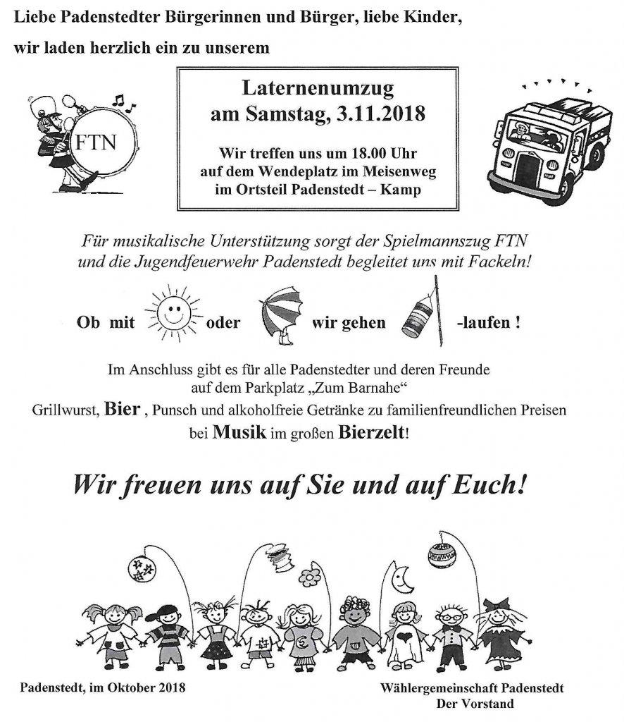 2018 Laterne-Einladung