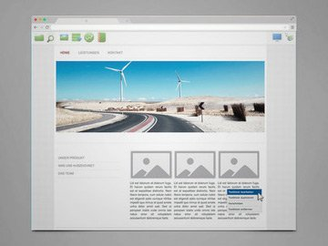 Screenshot: Das SeitenBox-System
