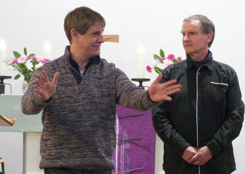 Jonathan Böttcher mit P. Helge Dittmer