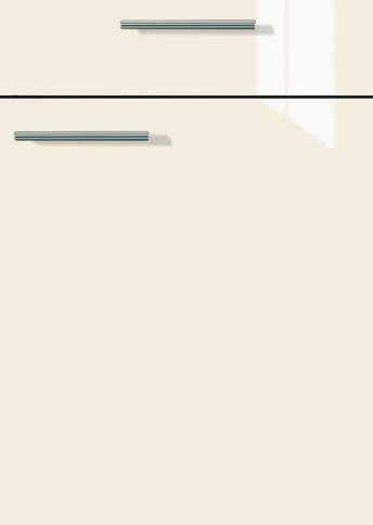 H22065499 Magnolie Lacklaminat, MDF-Trägerplatte mit umlaufend kleinem Radius, Rückseite weiß