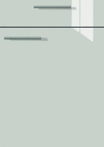 H22066299 steingrau Lacklaminat, MDF-Trägerplatte mit umlaufend kleinem Radius, Rückseite weiß