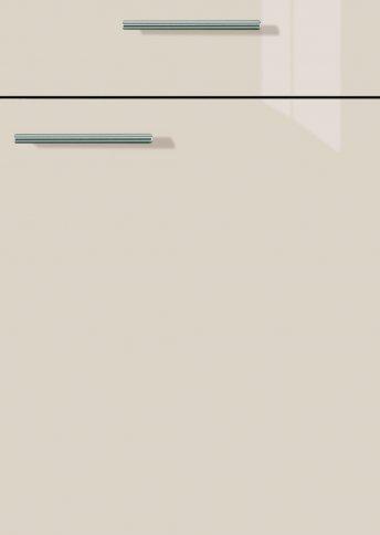 H27063899 kaschmir hochglanz, Lacklaminat, MDF-Trägerplatte mit umlaufender Hochglanzdickkante, Rückseite weiß
