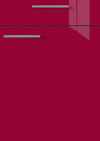 H27064099 rot hochglanz, Lacklaminat, MDF-Trägerplatte mit umlaufender Hochglanzdickkante, Rückseite weiß