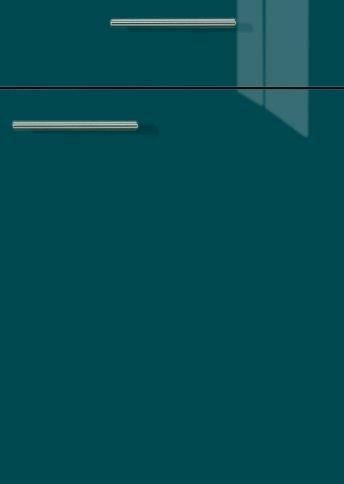 H27064299 petrolblau hochglanz, Lacklaminat, MDF-Trägerplatte mit umlaufender Hochglanzdickkante, Rückseite weiß