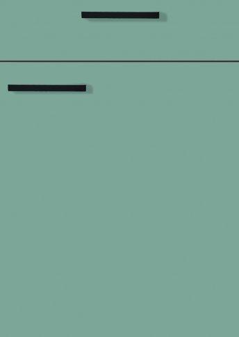 H31066799 fjordgrün, Lacklaminat, MDF-Trägerplatte mit umlaufender Dickkante, Rückseite weiß