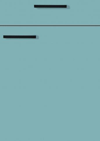 H31066899 pastellblau, Lacklaminat, MDF-Trägerplatte mit umlaufender Dickkante, Rückseite weiß
