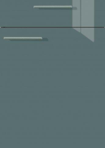 H40064399 anthrazitgrau metallic Hochglanz, Lacklaminat, MDF-Trägerplatte mit umlaufender gerundeten Hochglanzdickkante, Rückseite weiß