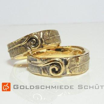3. Mein Lieblingsring Goldschmiede Schuett 750 Gelbgoldwarm Blattabdruck