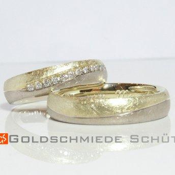 4. Mein Lieblingsring Goldschmiede Schuett 585 Lemongold und Weissgold
