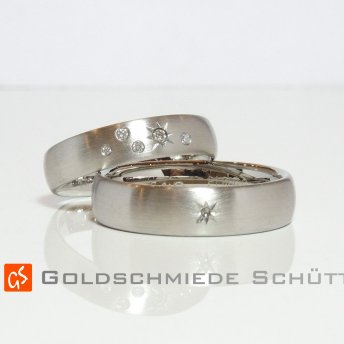 6. Mein Lieblingstrauring Goldschmiede Schuett 585 Weissgold Nature