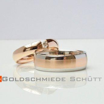 7. Mein Lieblingsring Goldschmiede Schuett 585 Rosegold Platin 950