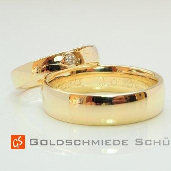 9. Mein Lieblingstrauring Goldschmiede Schuett 585  Gelbgold Brillant hochfeinesweiss lupenrein