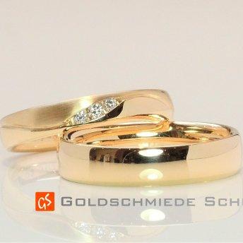 10. Meine Lieblingseheringe Goldschmiede Schuett 585 Gelbgold Brillanten hochfeinesweiss lupenrein