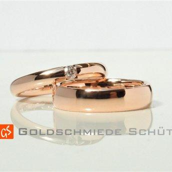 14. Mein Lieblingstrauring Goldschmiede Schuett in 585 RedPepp der Brillant hochfeinesweiss lupenrein