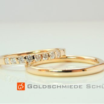 16. Mein Lieblingstrauring Goldschmiede Schütt Die Trauringmacher 585 sehr warmer Gelbgold Brillanten hochfeinesweiss lupenrein