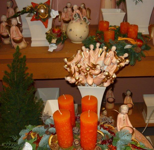 Weihnachten Engel und Kerzen