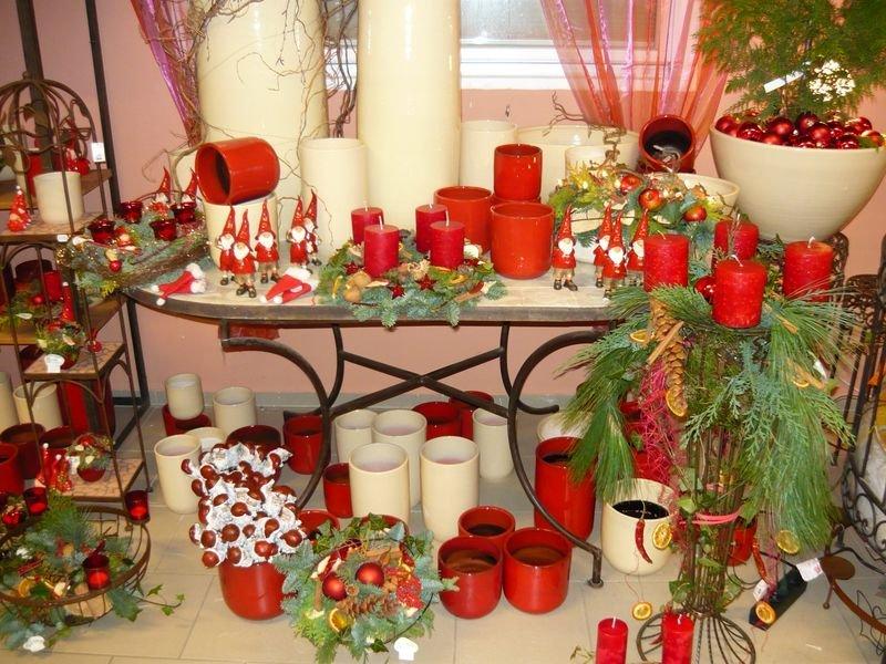 Weihnachten Aufbau in rot