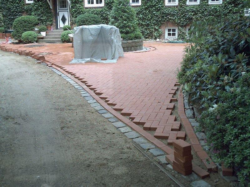 Gartenanlage Pflasterarbeiten