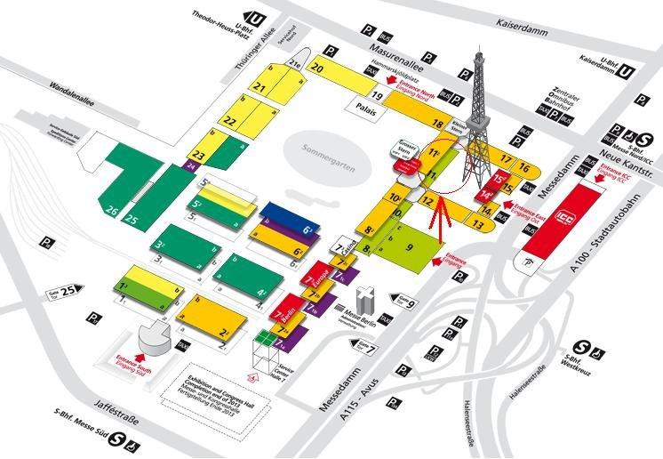 Grüne Woche Hallenübersicht Halle 11.1 Stand 116 - Paulwitz Pflanzenhof & Floristik