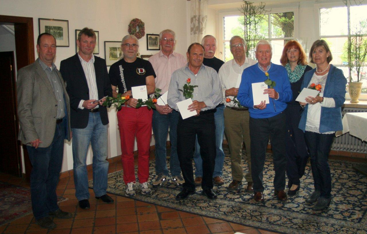 Karl-Heinz Schlemmer 25 Jahre Sportabzeichen in Gold