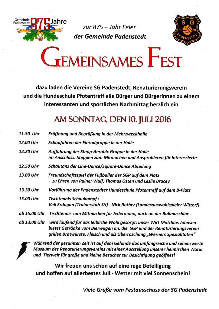 Gemeinsames Fest 2016