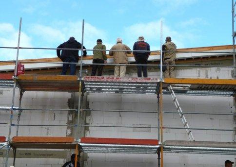 Besichtigung der Dacheindeckung