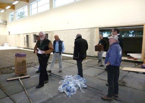 Einbau des Hallenbodens