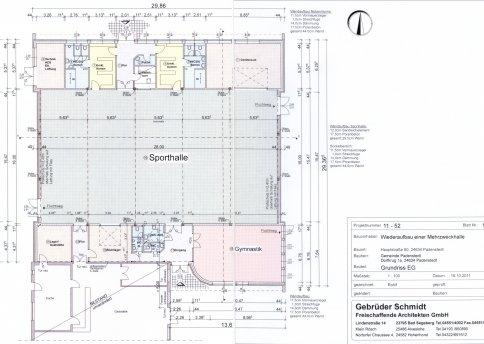 SG Padenstedt Grundriss der Mehrzweckhalle