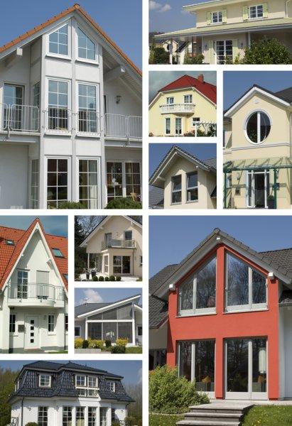 Fenster mit Holzrahmen und Kunststoffrahmen